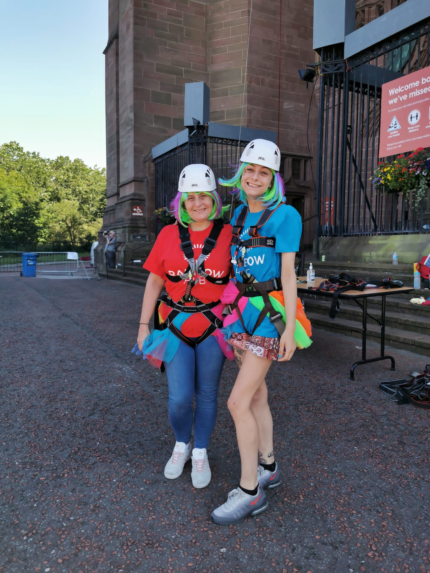 Abseiling heroes raise over £3,800